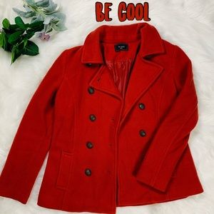 Be cool Women's front button  pea coat